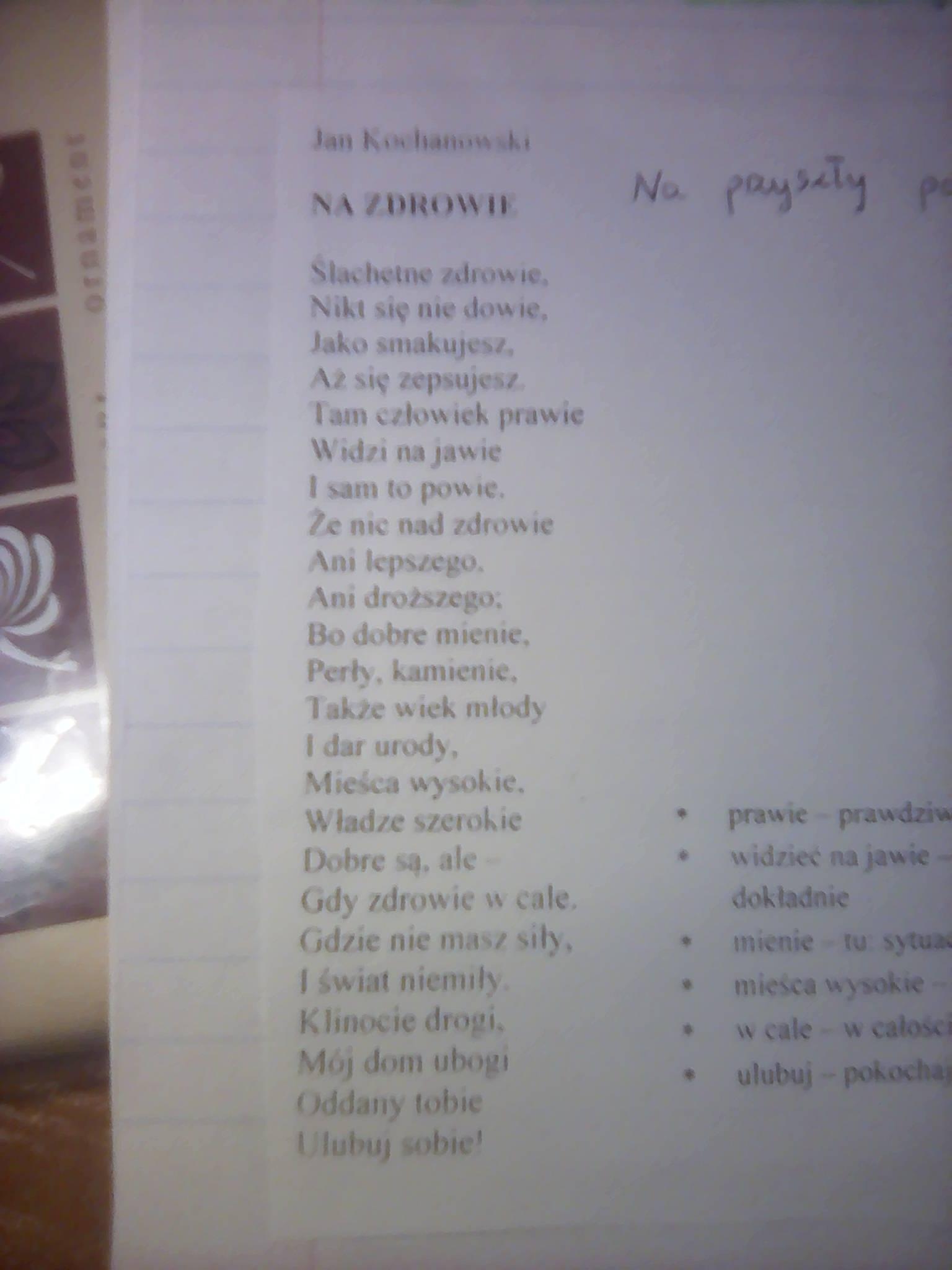 Czy Refleksja Jana Kochanowskiego Jest Trafna We