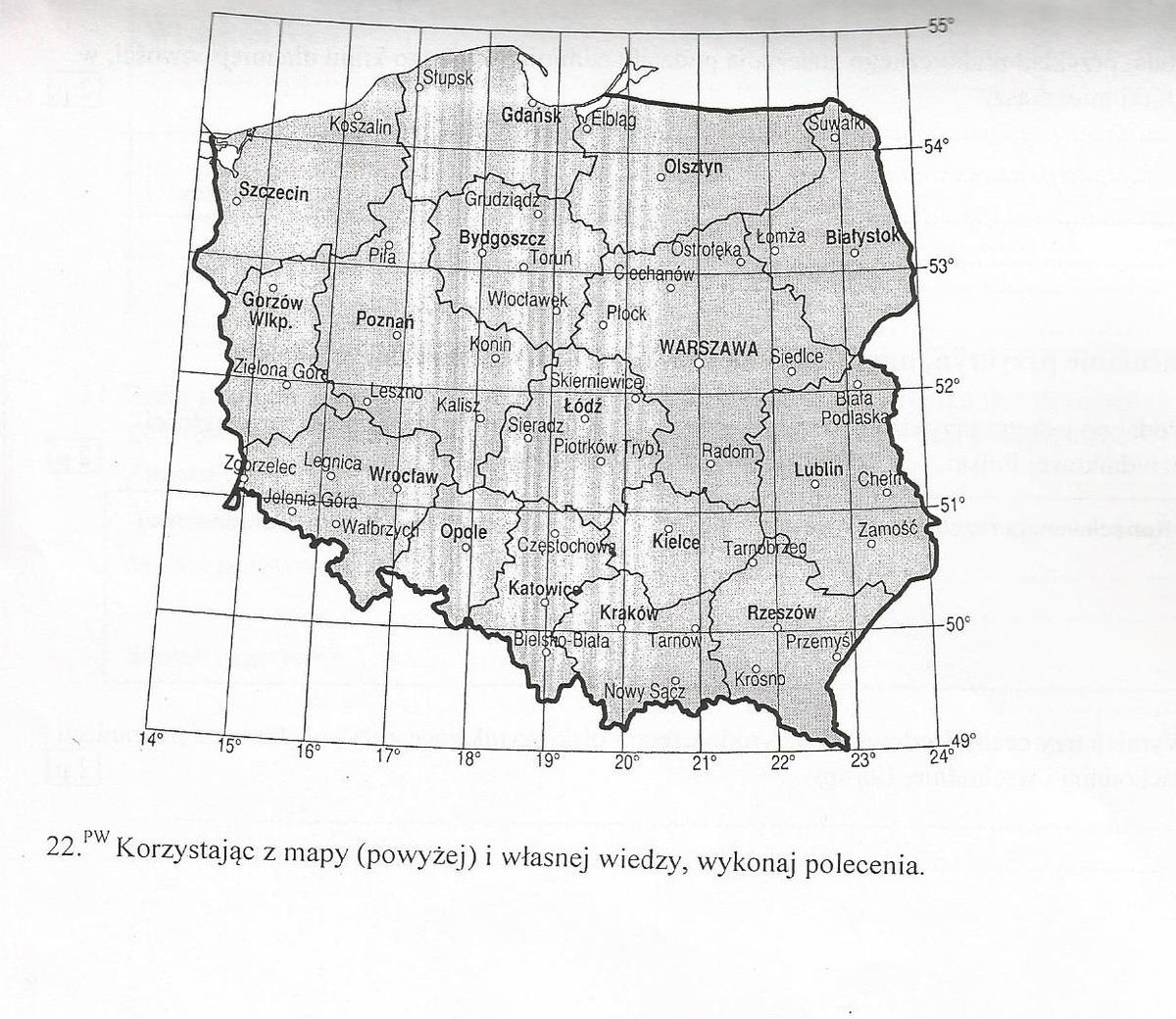 Zadania Z Mapa Wspolrzedne Geograficzne Wysokosc Gorowania