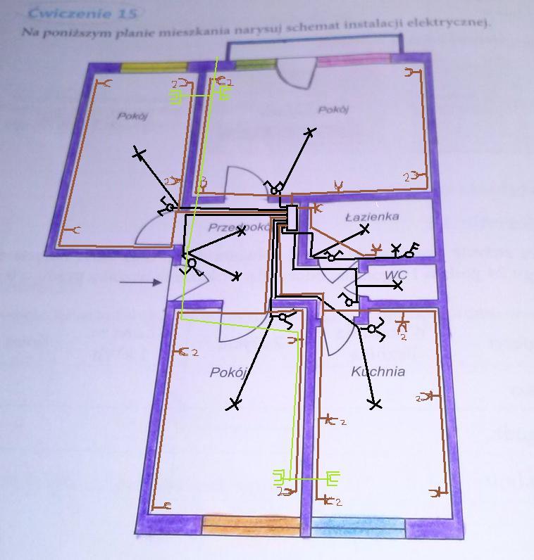 Na Ponizszym Planie Mieszkania Narysuj Schemat Instalacji