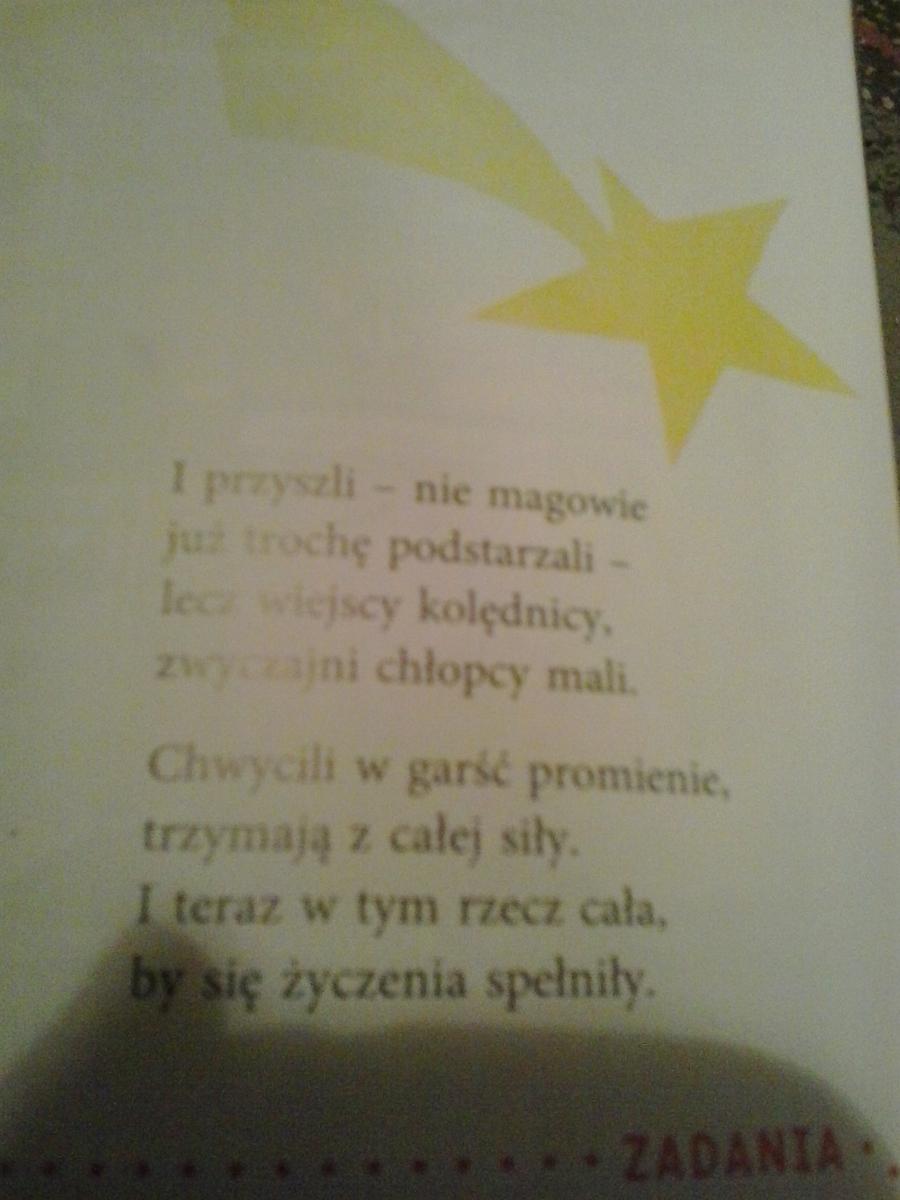 środkami Poetyckimi Które Przeważają W Utworze Gwiazda