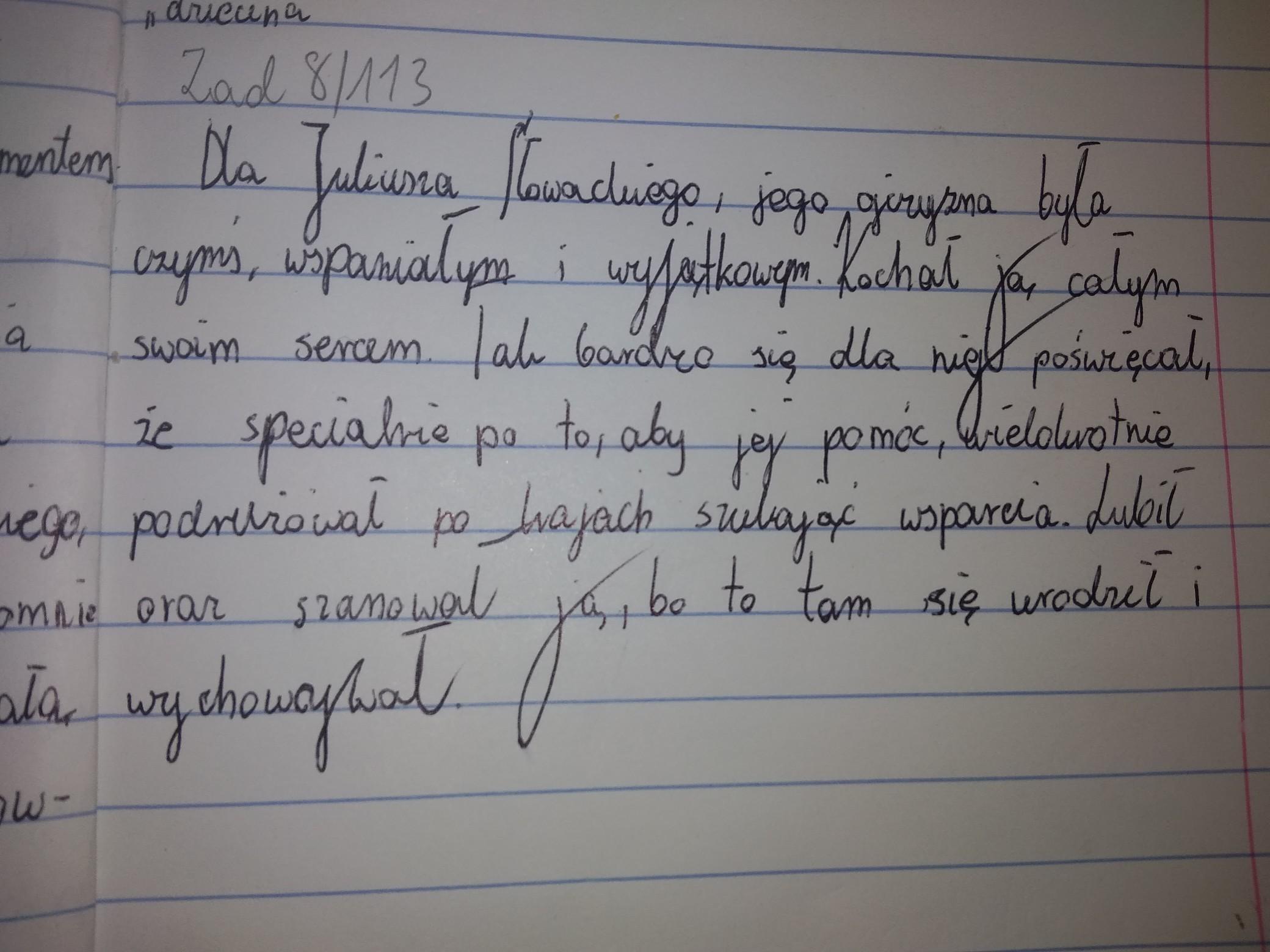 Na Podstawie Wiersza Powiedz Czym Dla Juliusza Słowackiego