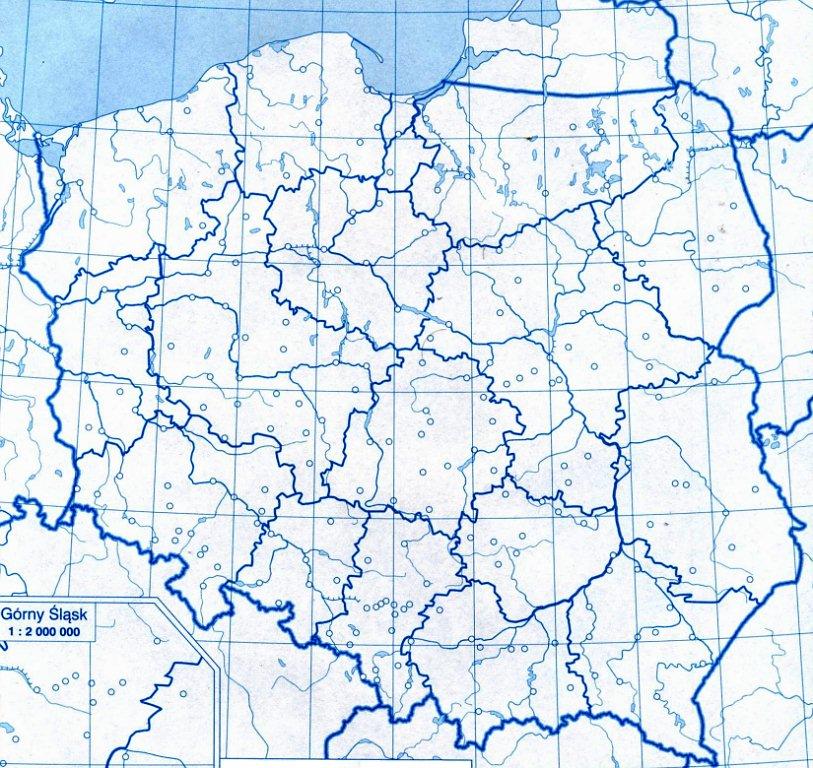 Potrzebuje Mapke Konturowa Polski Z Rzekami Ale Bez Podpisu Tych