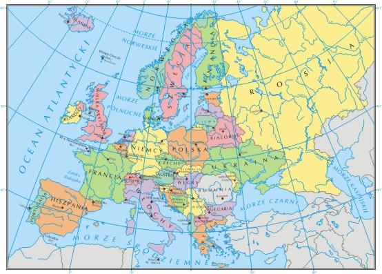 Potrzebuje Maypy Politycznej Europy Ze Stolicami Europy Czyli Na