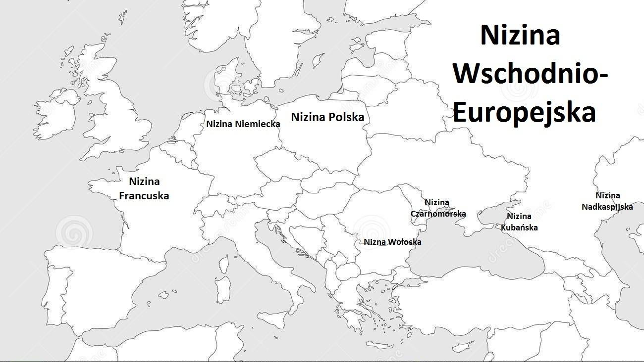 Prosze O Zaznaczenie Na Mapie Europy Podanej Nizej Niziny