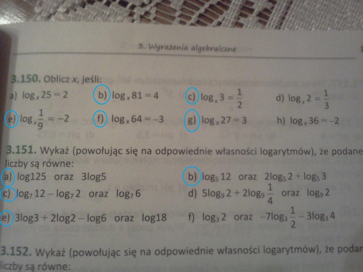 Pdf z rozwizaniami logarytmy zadania