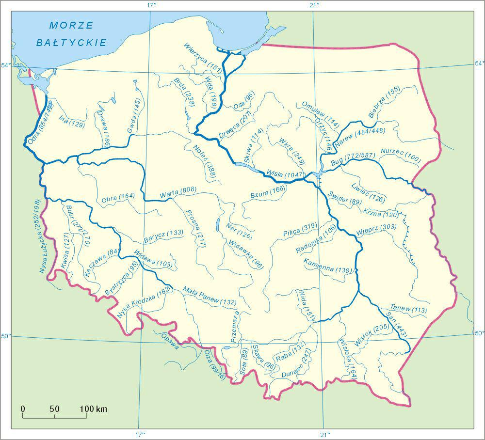 odra rzeka mapa