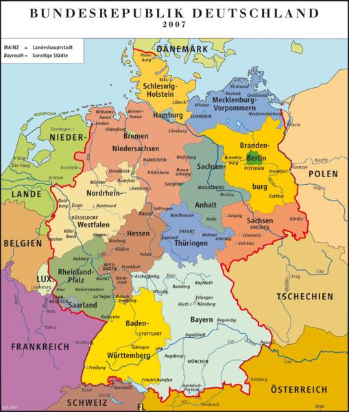 potrzebuje mapy Niemiec. po polsku. potrzebna mi jest na
