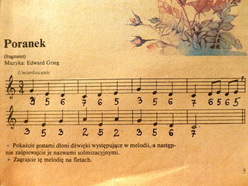 Napisze Mi Ktoś Cyfry Do Edvard Grieg Poranek Na Flet Plss