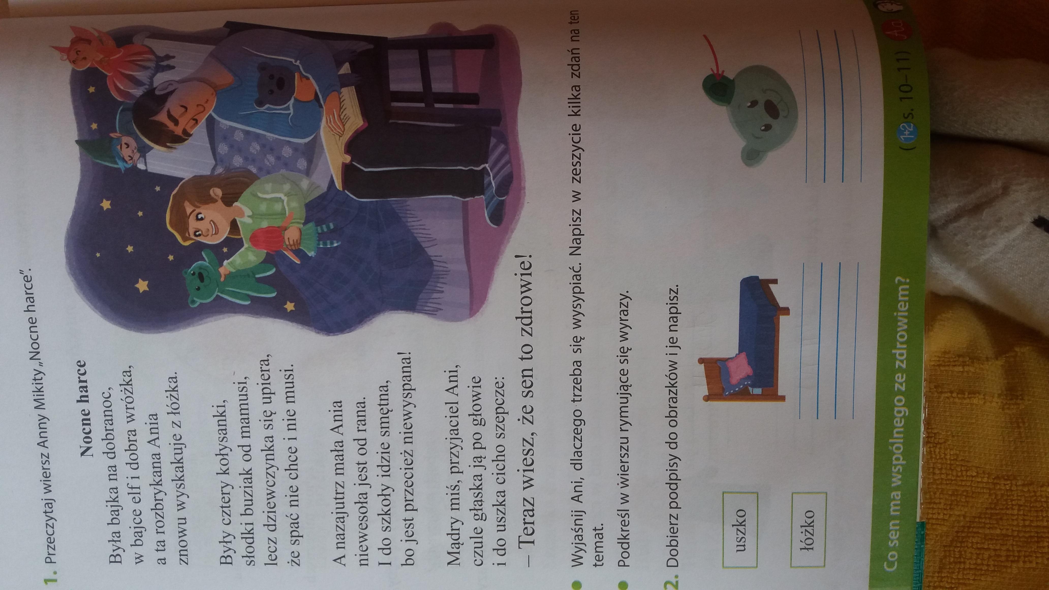 Moje ćwiczenia Nr 3 Klasa 2 Strona 14 Zad 1 Podkres W