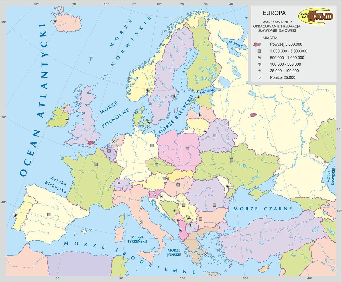 Mapa Konturowa Europy Polityczna Tylko Prosze O Bardzo Wyrazna