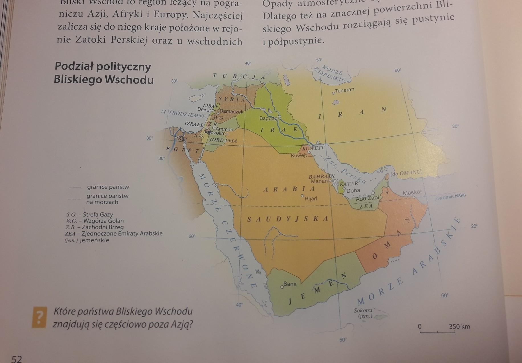 Podzial Polityczny Bliskiego Wschodu Brainly Pl