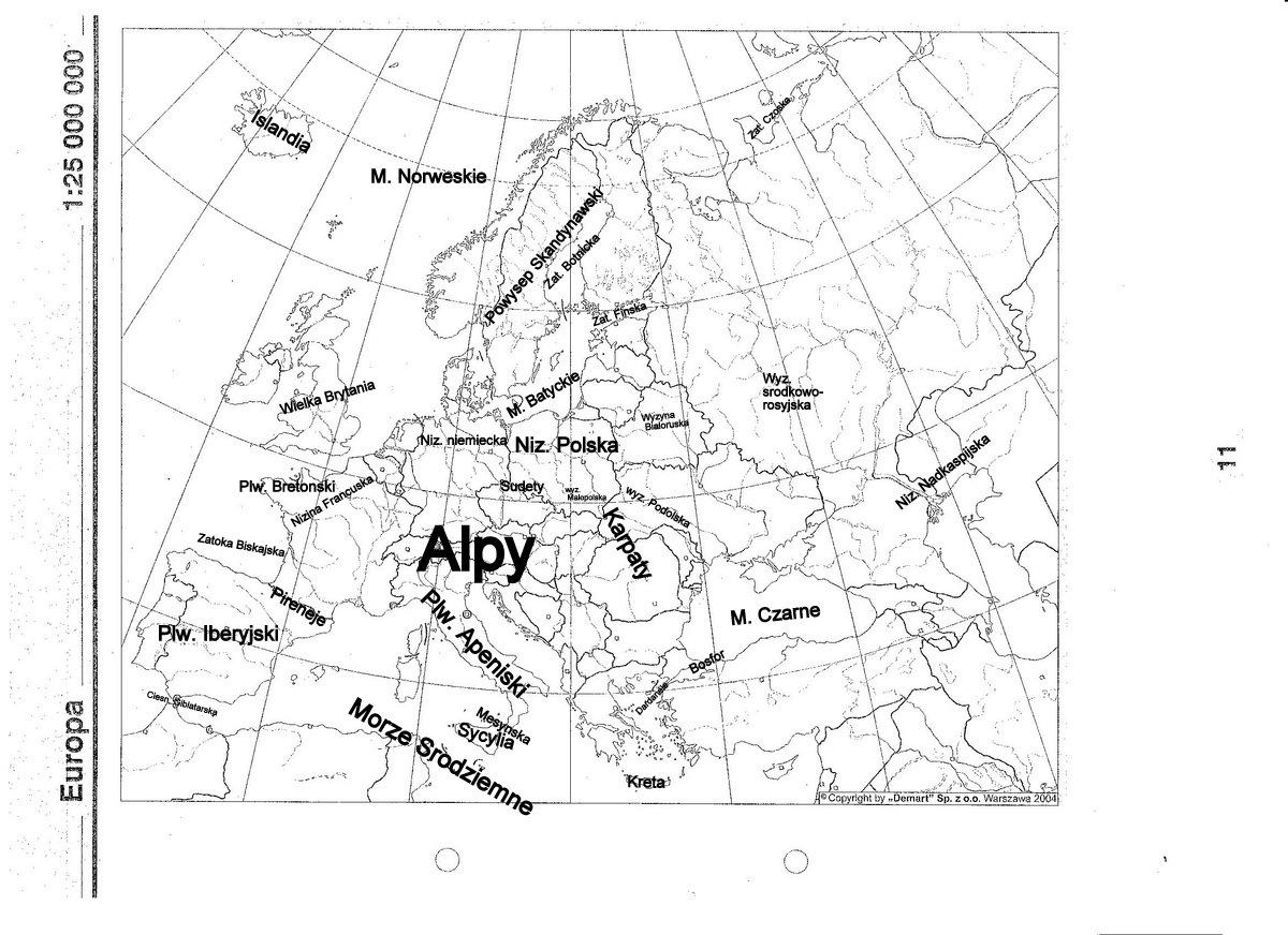 Zaznacz Na Mapie Niziny1 Nizina Francuska2 Nizina Niemiecka3