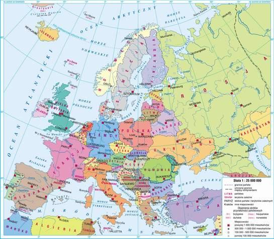 Jutro Mam Kartkowke Z Map Europy Mapa Europy Z Zaznaczonymi