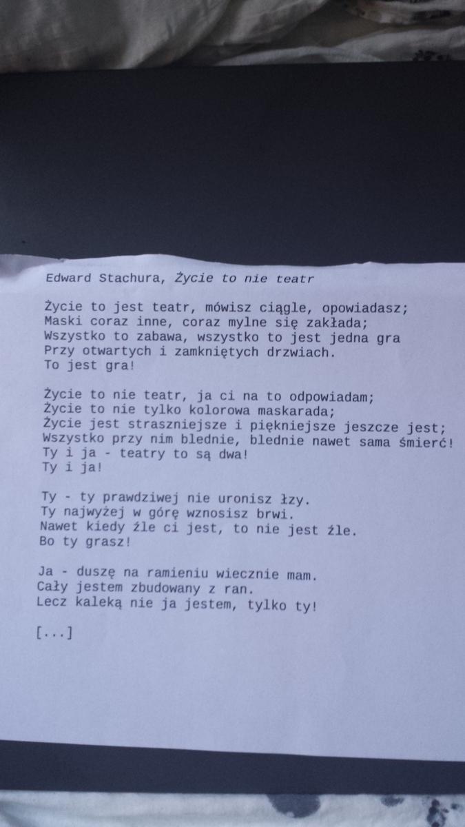 Szybko Pomóżcie Mam Zadane Napisać Interpretacje Wiersza