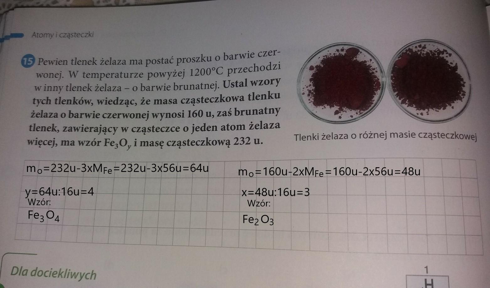 Genialny Pewien tlenek żelaza ma postać proszku o barwie czerwonej w KF65