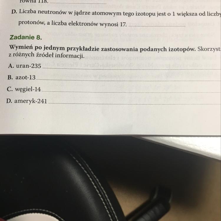 zadanie domowe z datowania węgla