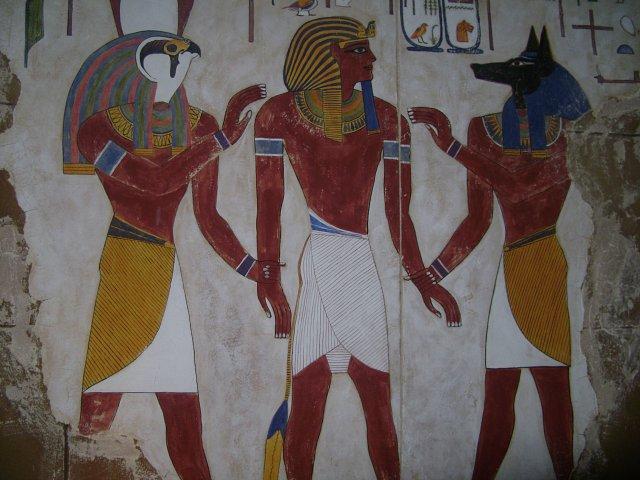 Znalezione obrazy dla zapytania egipt freski
