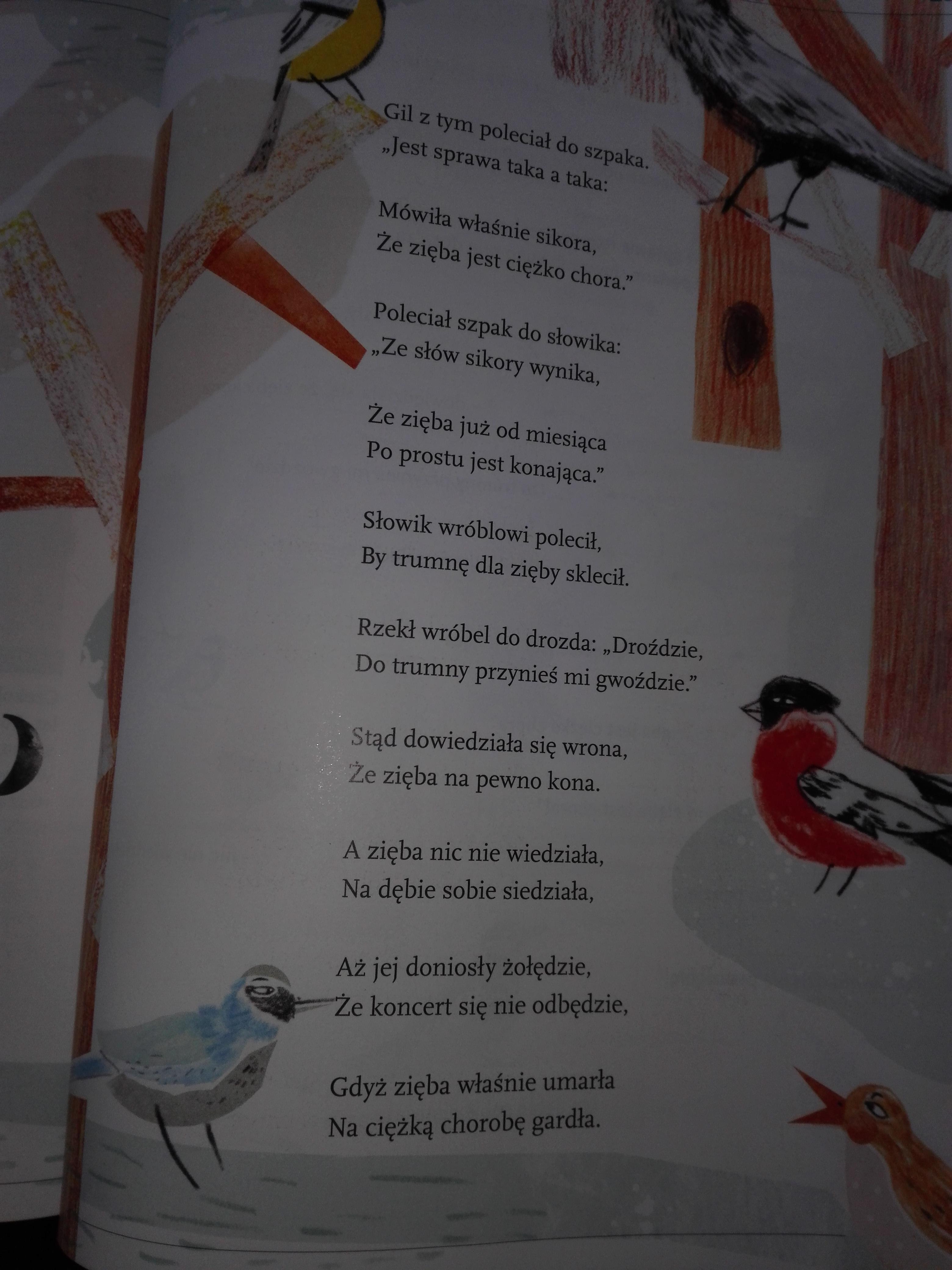 Wyjaśnij W Czym Ptaki Z Wiersza Ptasie Plotki Jana