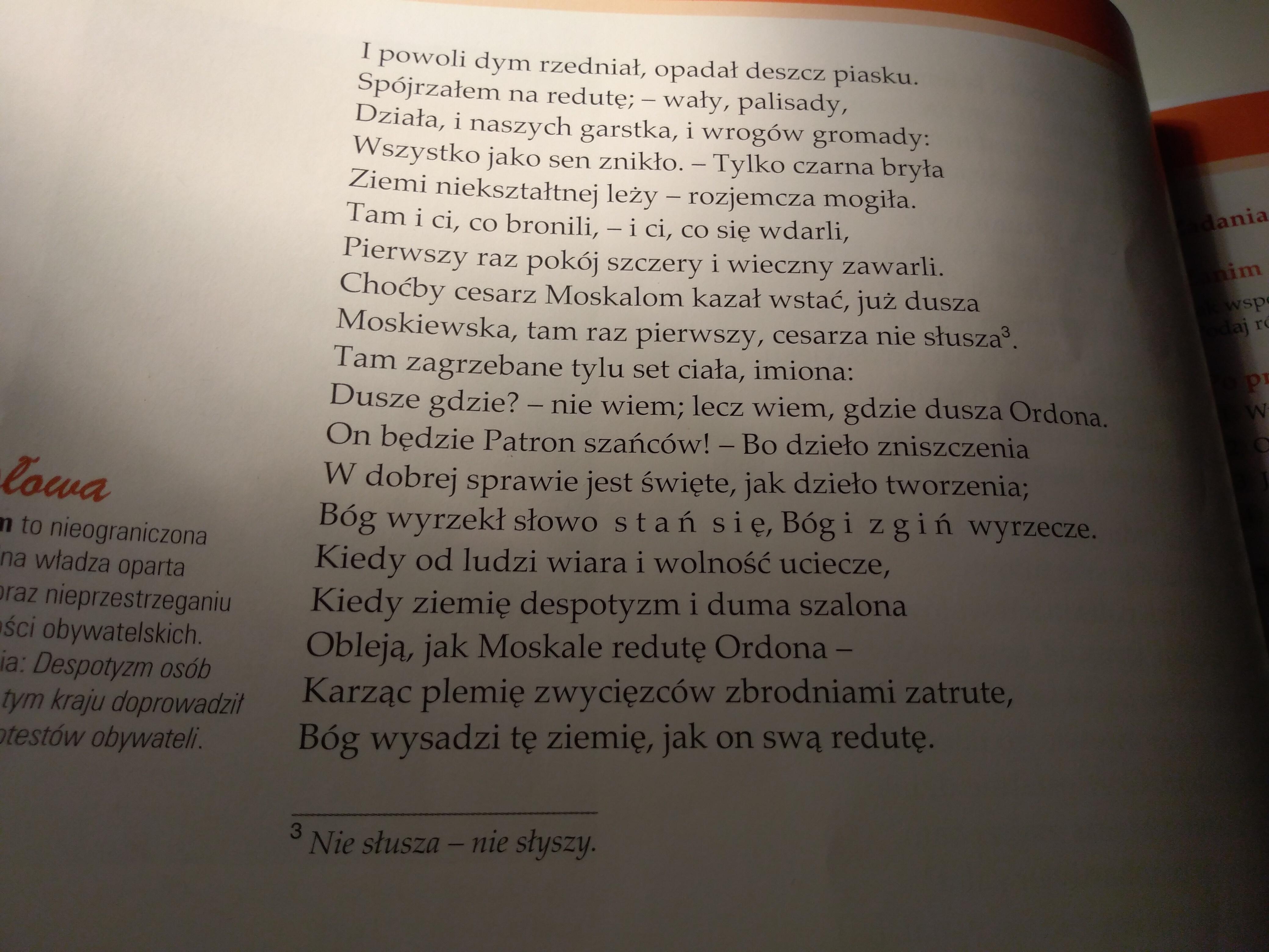 Reduta Ordona Adama Mickiewicza 1 Zaznacz Fragmenty