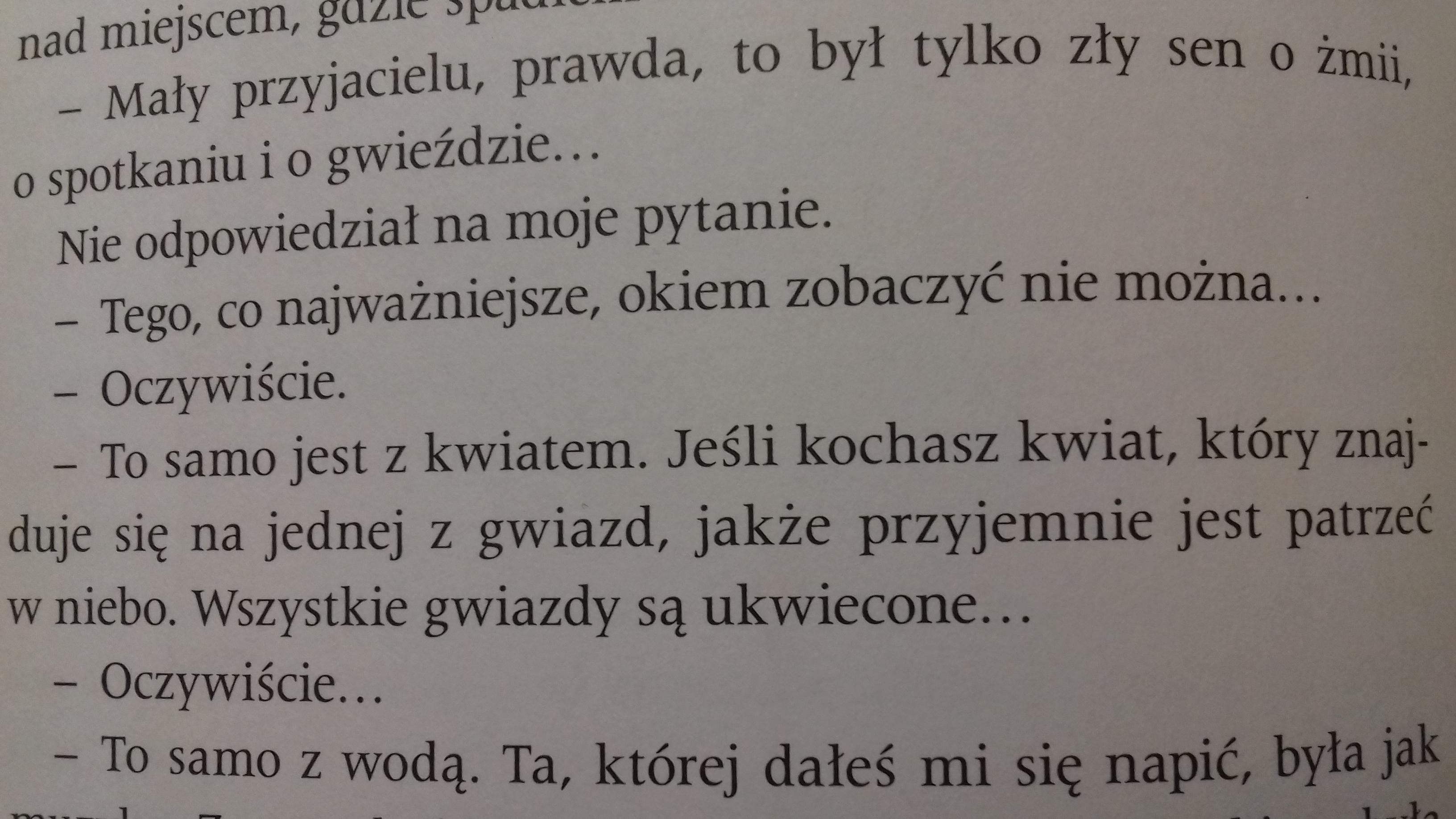 Wypisz Z Tekstu Str85 89 Mały Książę Złote Myśli Na