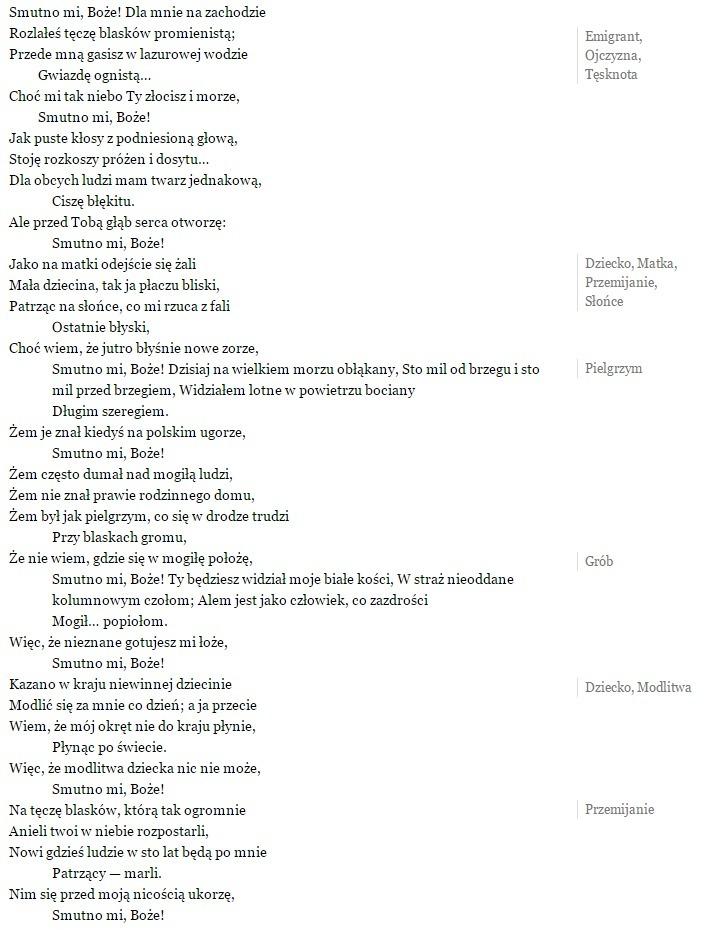 Na Podstawie Wiersza Juliusza Słowackiego Pt Hymn 1