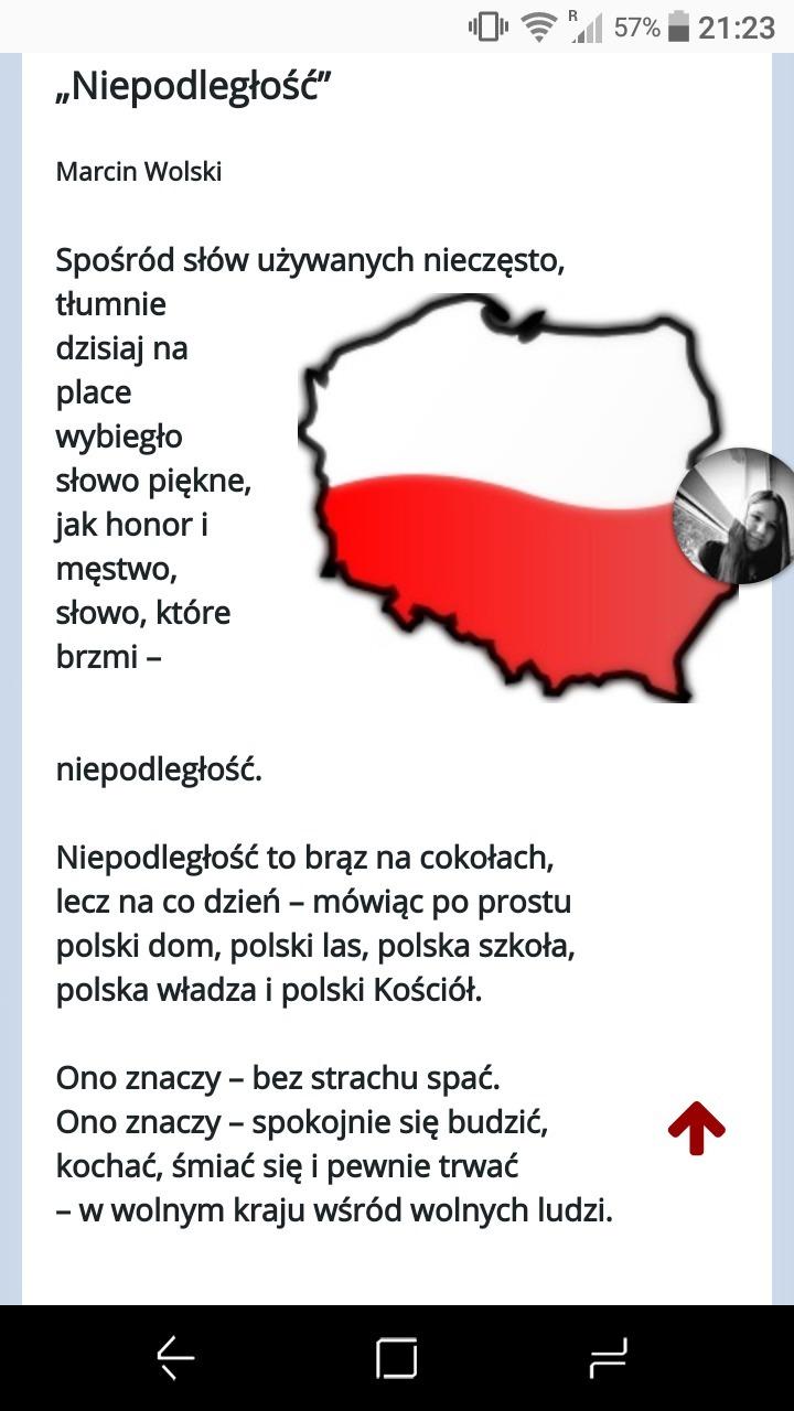 Wiersz Na 100 Lecie Odzyskania Przez Polskę Niepodległość