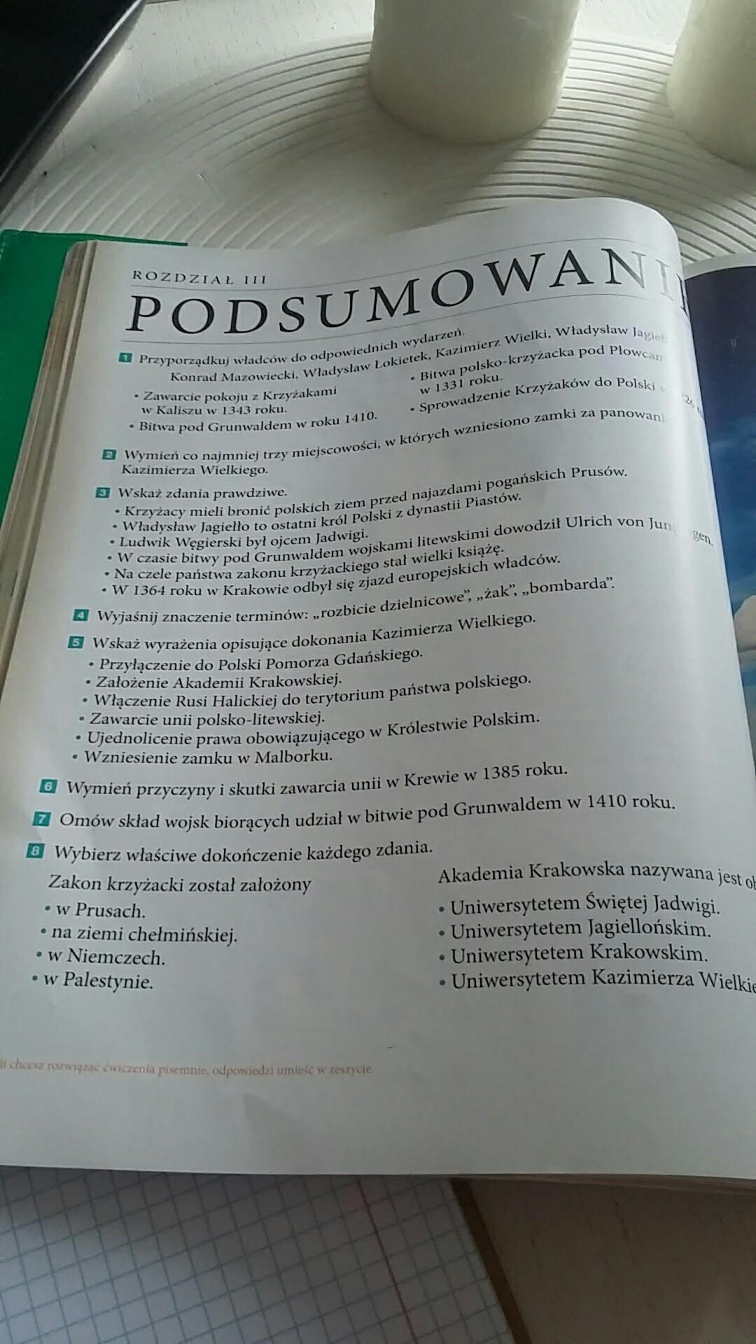 odrodzenie państwa polskiego sprawdzian klasa 6 pdf