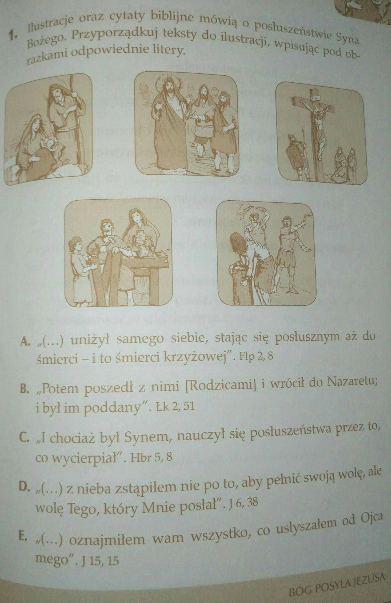 Ilustracje Oraz Cytaty Biblijne Mówią O Posłuszeństwie Syna