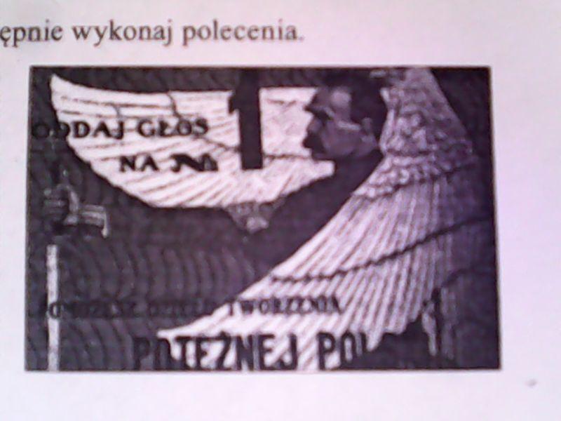 Przeanalizuj Plakat Wyborczy Z 1930 Roku A Nastepnie