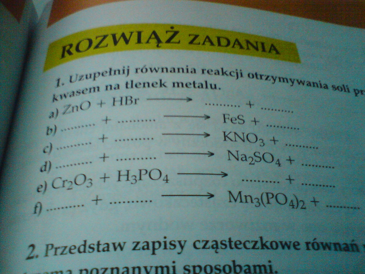 zad 3 str 98 chemia nowej ery 2