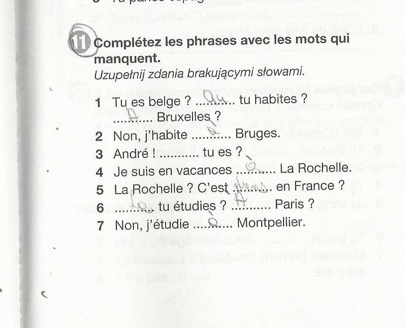 francofolie express 1 sprawdziany