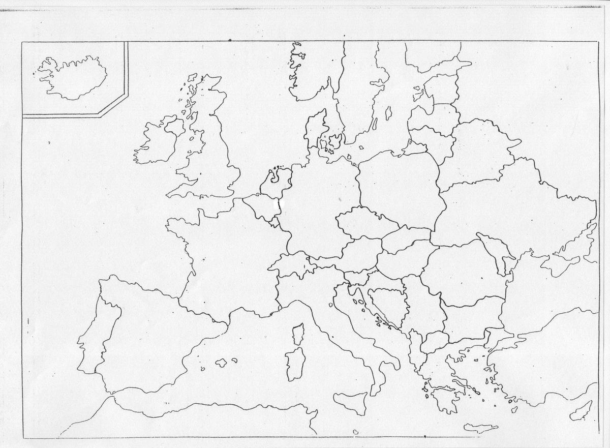 Proszę O Uzupełnienie Mapki Politycznej Państwami Europy Oraz