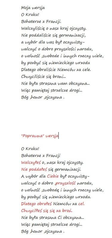 Napisałem Wiersz Dla Pewnego Powstańca Warszawskiego Moja