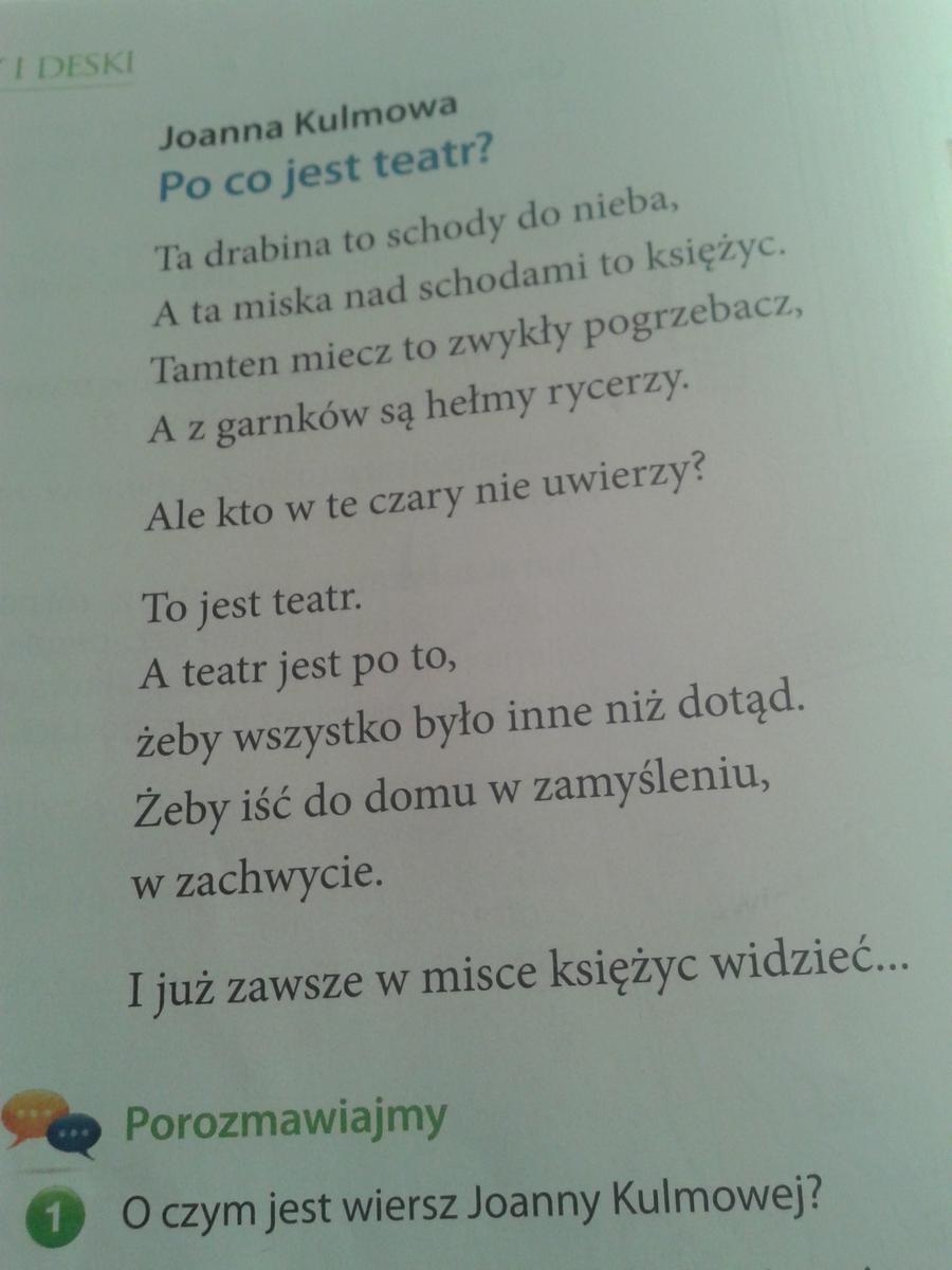 Prosze O Pomoc Na Jutro Z Polskiego Wypisz Srodki Poetyckie