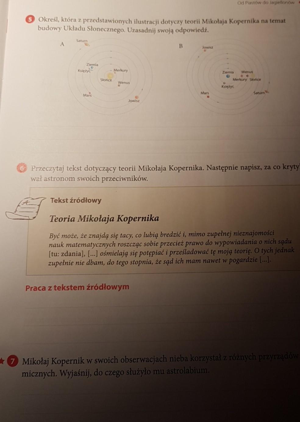 90ae348733c1a1 Określ które z przedstawionych ilustracji dotyczy teorii Mikołaja Kopernika  na temat budowy układu słonecznego Uzasadnij swoją odpowiedź