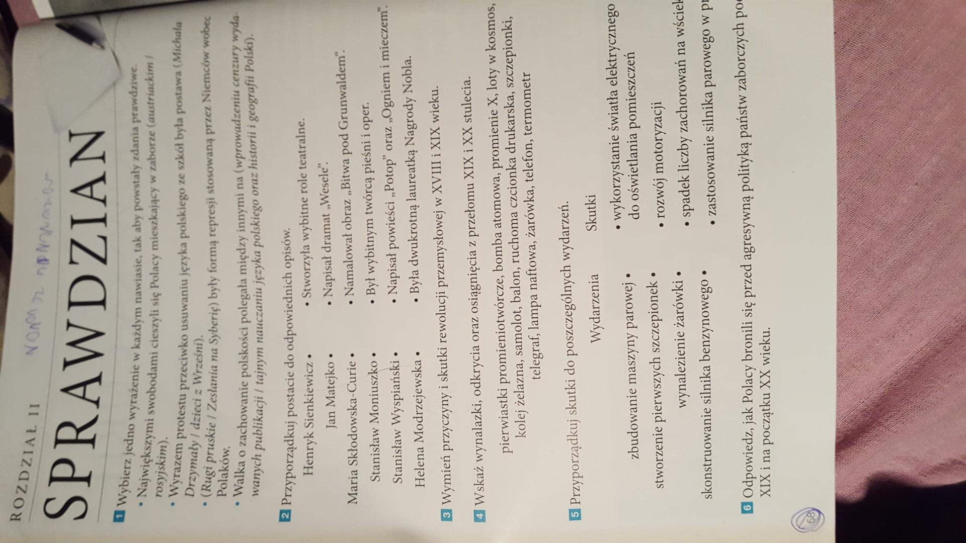 Modernistyczne sprawdzian rozdział 2 z historii wczoraj i dziś kasa 6 30 pkt KG01