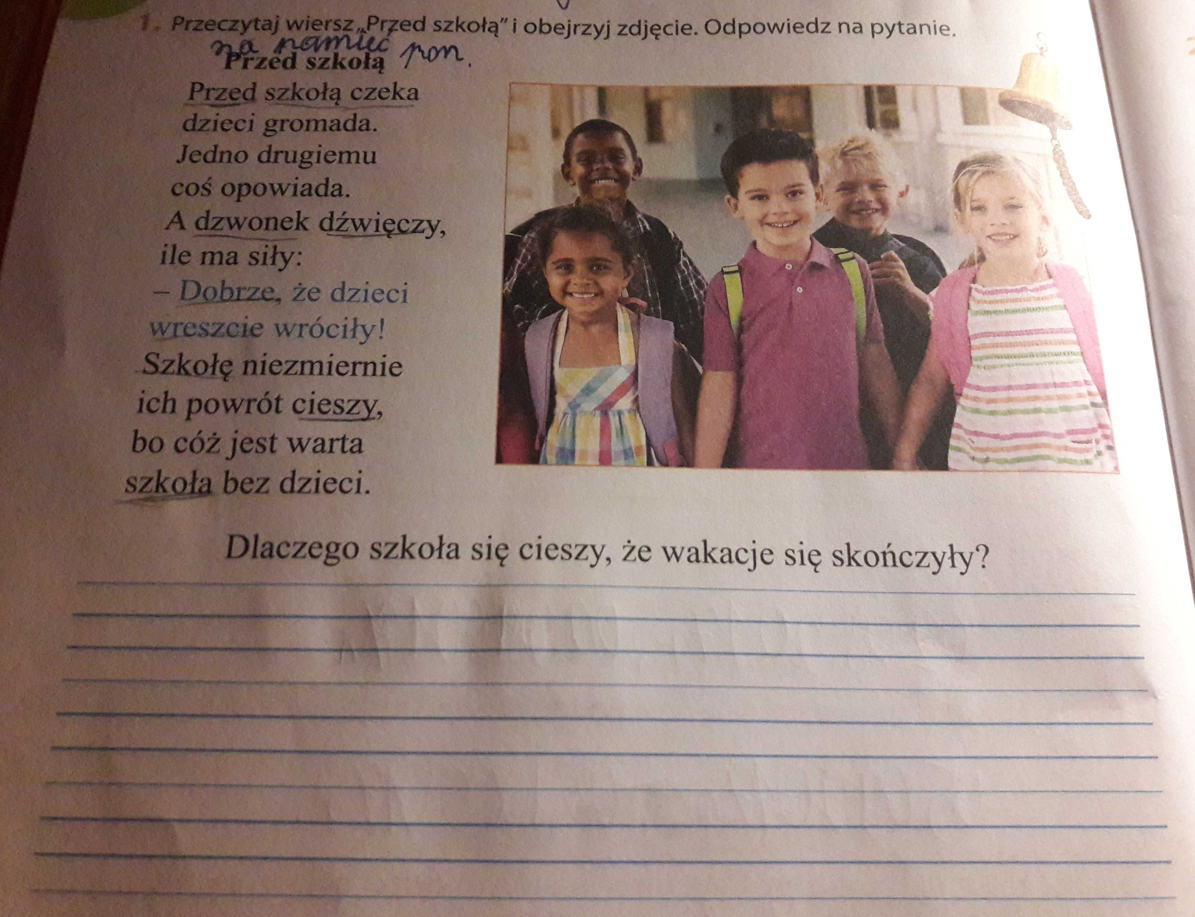 Przeczytaj Wiersz Przed Szkołą I Obejrzyj Zdjęcie