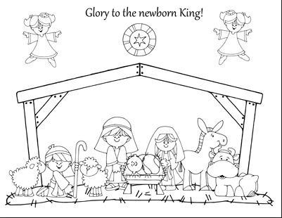 Prosze o zdj cie stajenki for Away in a manger coloring pages