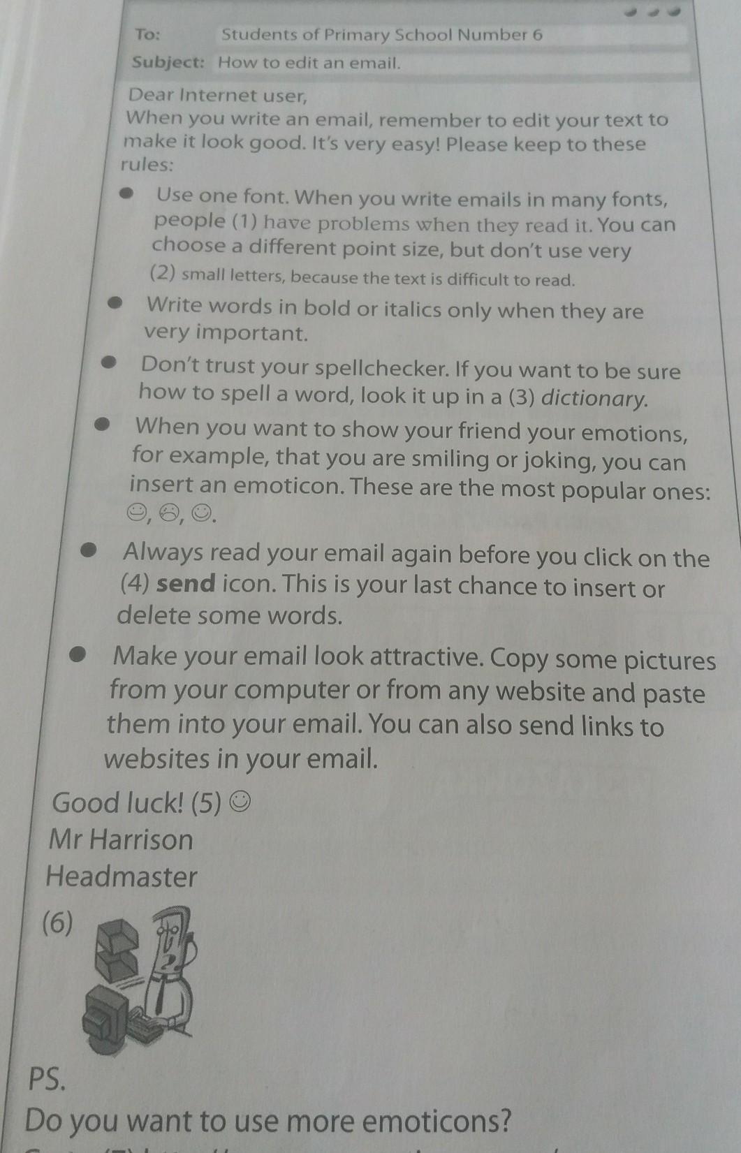 Przeczytaj tekst i dopasuj przyklady (1-7) doponiższych nazw a point