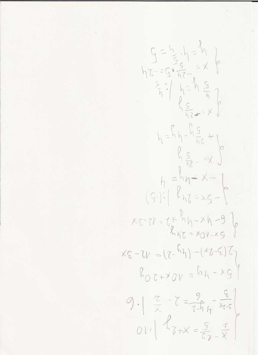 x-2 y { --- - --- =x+2y 2 5 { 3-2 4y-2 x { --- - ---- =2 ...