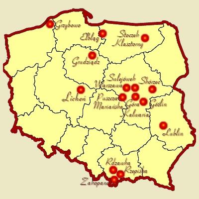 Wklej Kontury Polski Lub Je Narysuj I Zaznaczyc Sanktuaria Maryjne