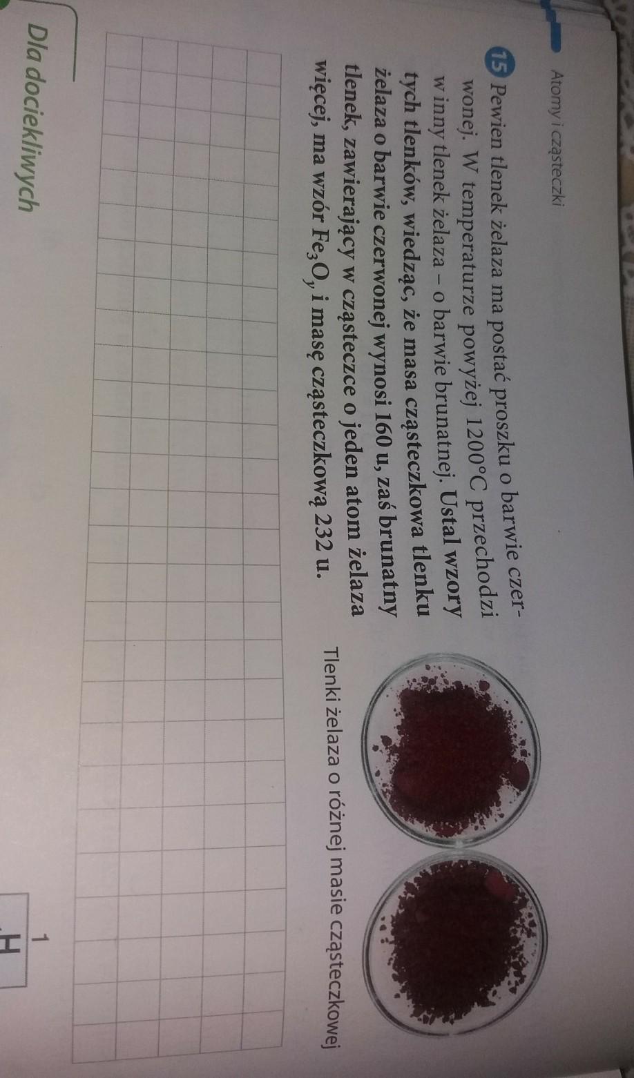Super Pewien tlenek żelaza ma postać proszku o barwie czerwonej w QQ33