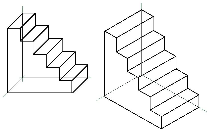 Narysuj 2 rysunki schodów 3D. Jeden rysunek z boku, drugi z ukosa. Proszę nie brać z internetu ...