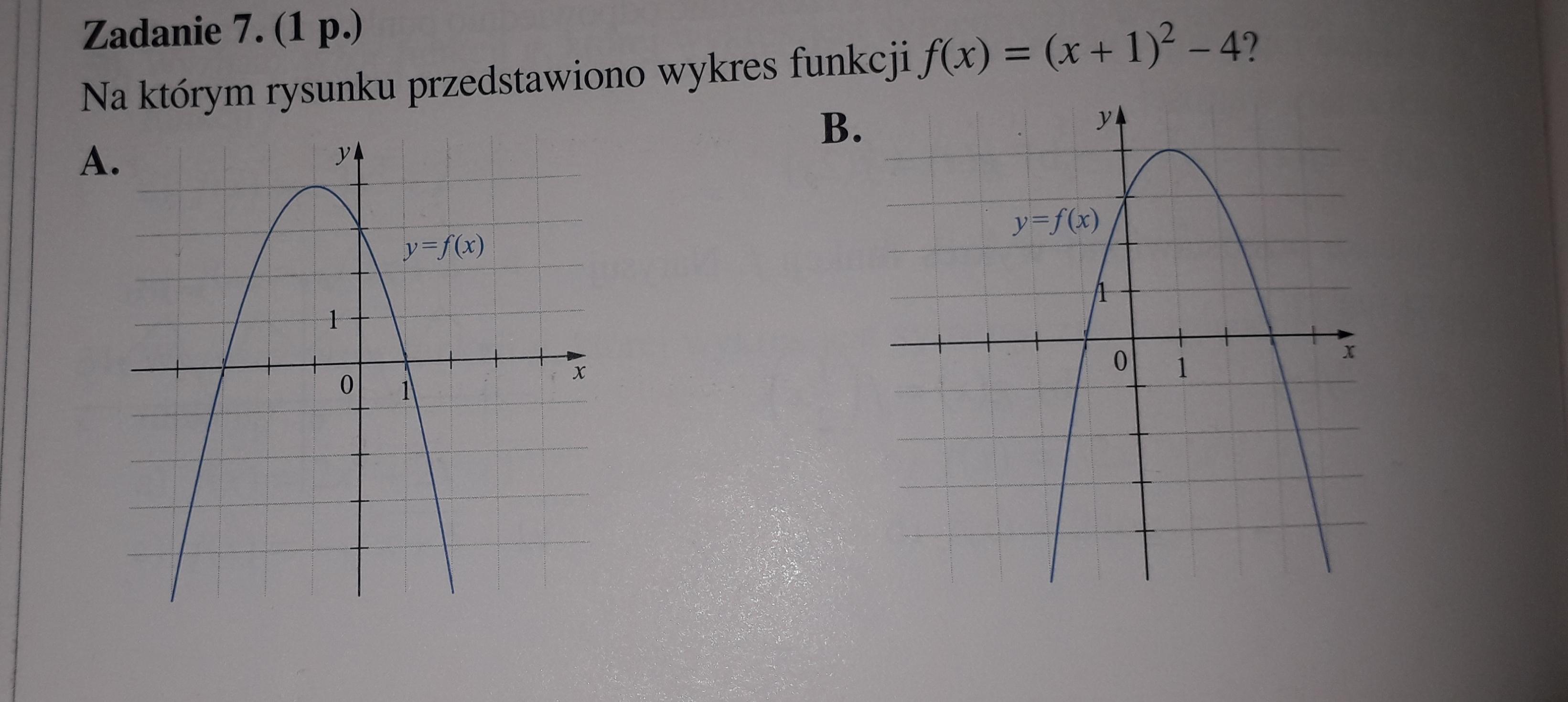 �z,a��-yb�9�oz/i�f�x�~{�X+��ߚ�_1.Naktórymrysunkuprzedstawionowykresfunkcjif(x)=(x+1)²-4(ZDJĘCIEW