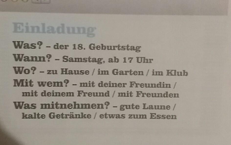 Napisz Zaproszenie Na Urodziny Po Niemiecku Chciałbym Aby Bylo