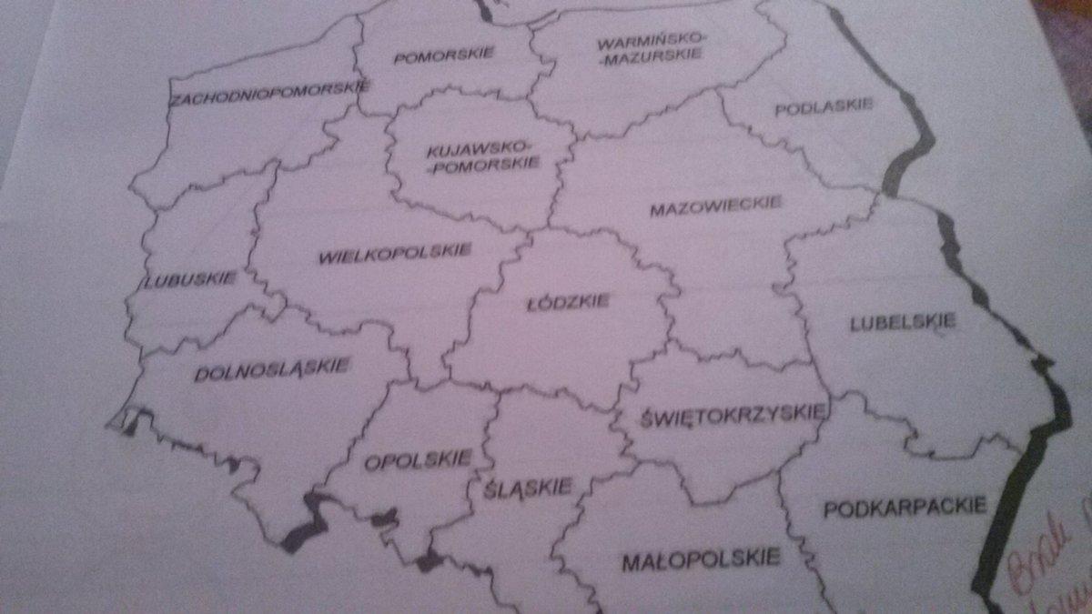 Zad 1 Str 49 Wierze W Kosciol Kl 6 Ns Mapie Wojewodztw Polskich