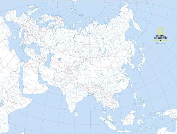 Top Ten Azja Mapa Fizyczna Konturowa