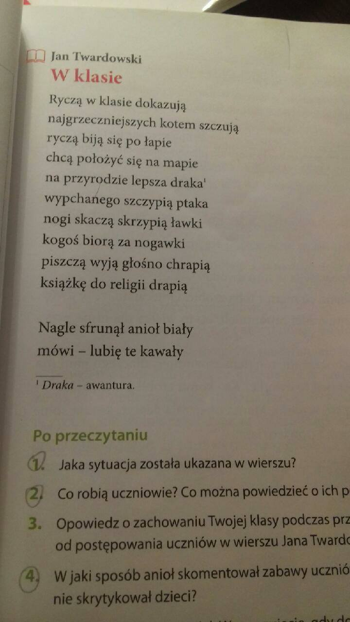 Zadanie Z Polskiego Proszę O Szybką Odpowiedź Wiersz A Pod