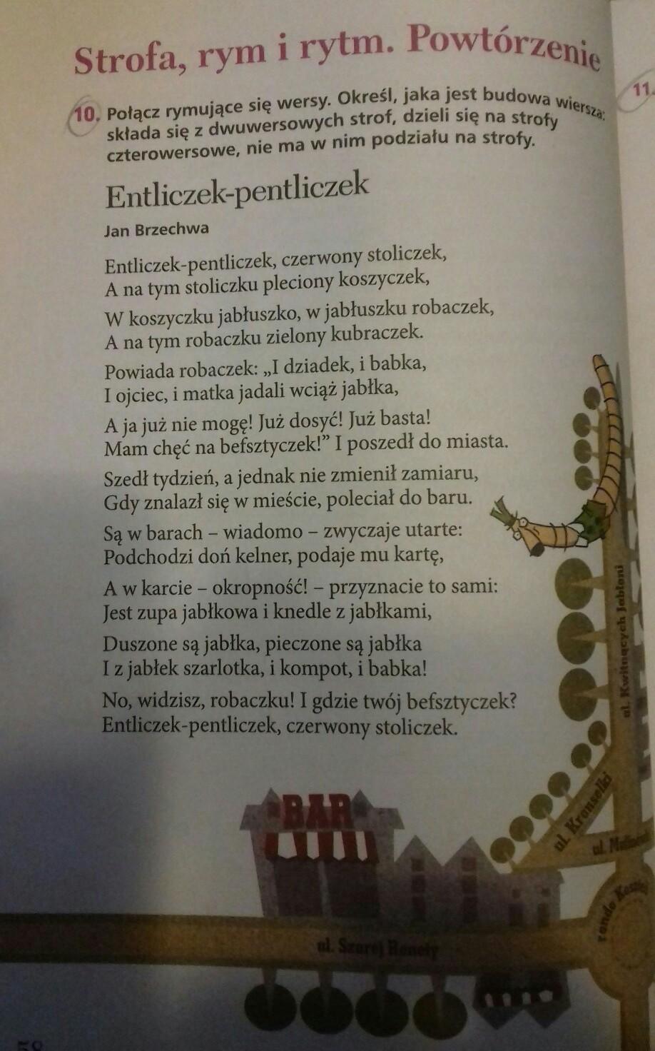 Polacz Rymujace Sie Wersy Okresl Jaka Jest Budowa Wiersza Sklada