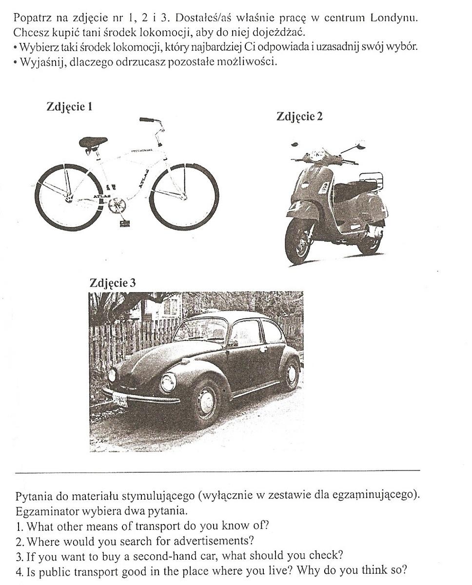 Car Bike Owners Not Starving Can Pay More For Petrol: Witam.W Załączniku Obrazki I Pytania. Proszę Po 2-3 Zdania